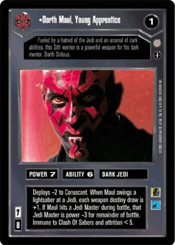 Darth Maul, Young Apprentice