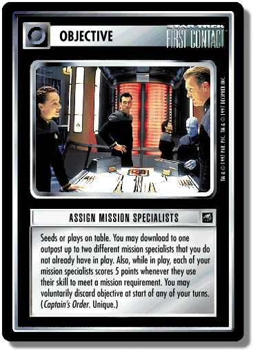 Assign Mission Specialists (first version)