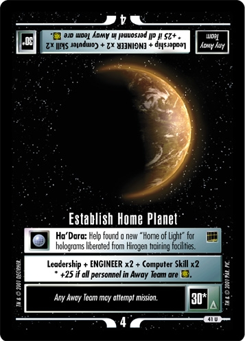 Establish Home Planet