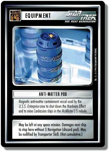 Anti-Matter Pod