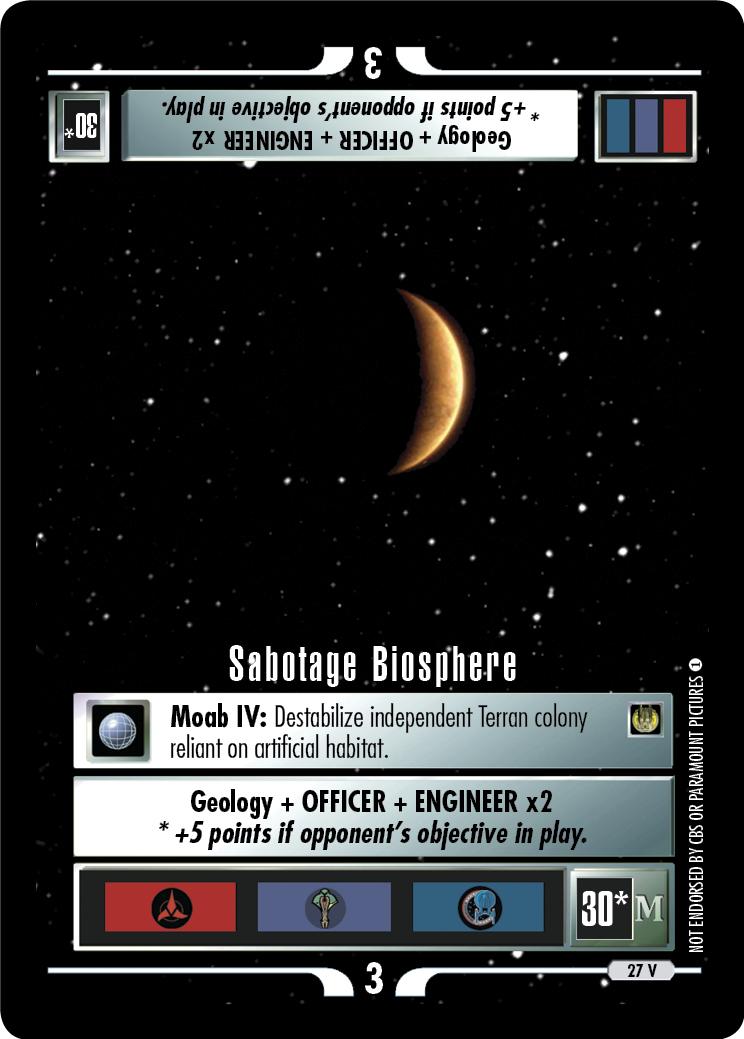 Sabotage Biosphere