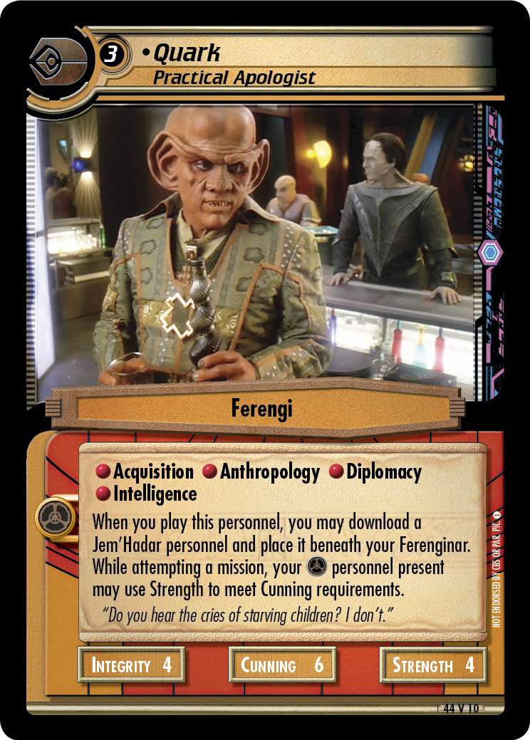 Quark, Practical Apologist