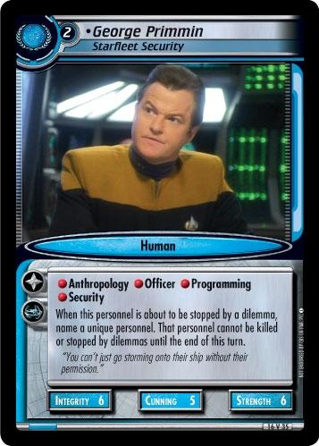 George Primmin, Starfleet Security (first version)